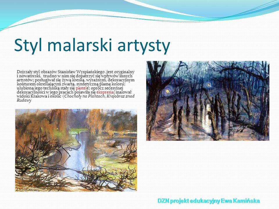 Styl malarski artysty