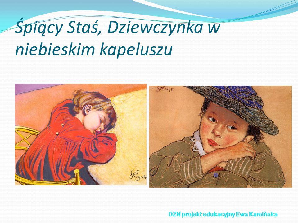Śpiący Staś, Dziewczynka w niebieskim kapeluszu