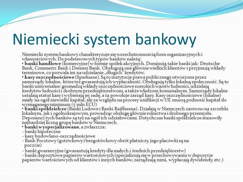 Niemiecki system bankowy