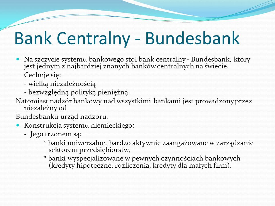 Bank Centralny - Bundesbank