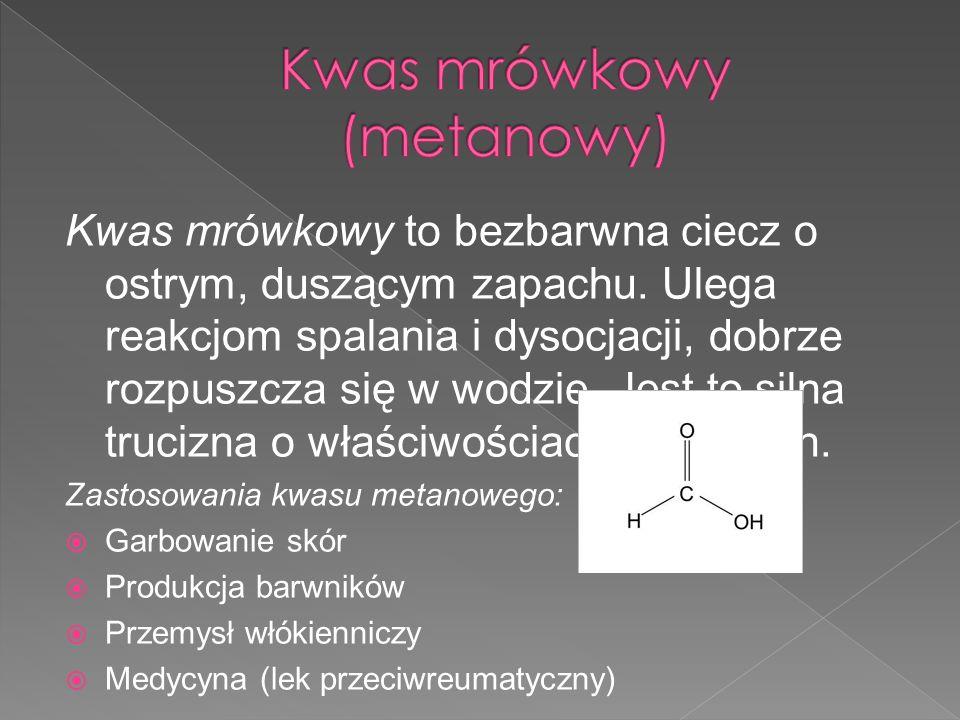 Kwas mrówkowy (metanowy)