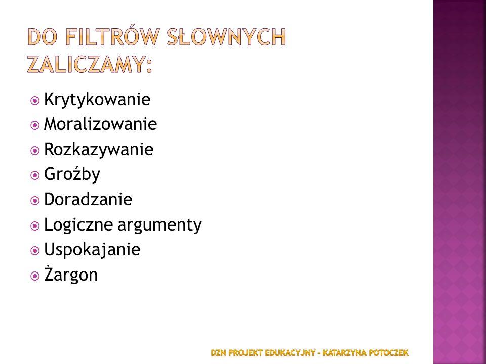 Do filtrów słownych zaliczamy: