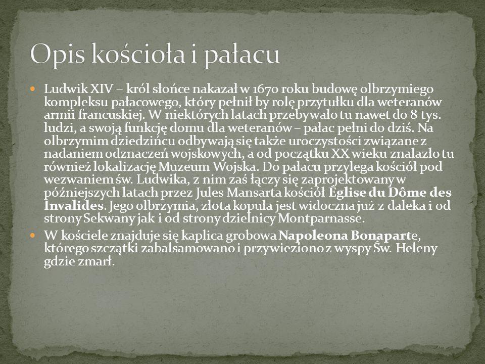 Opis kościoła i pałacu