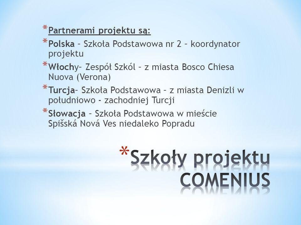Szkoły projektu COMENIUS
