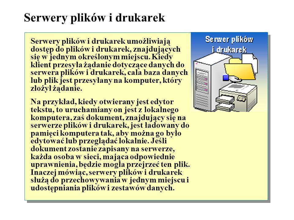 Serwery plików i drukarek