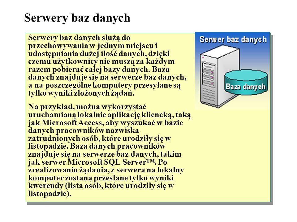 Serwery baz danych