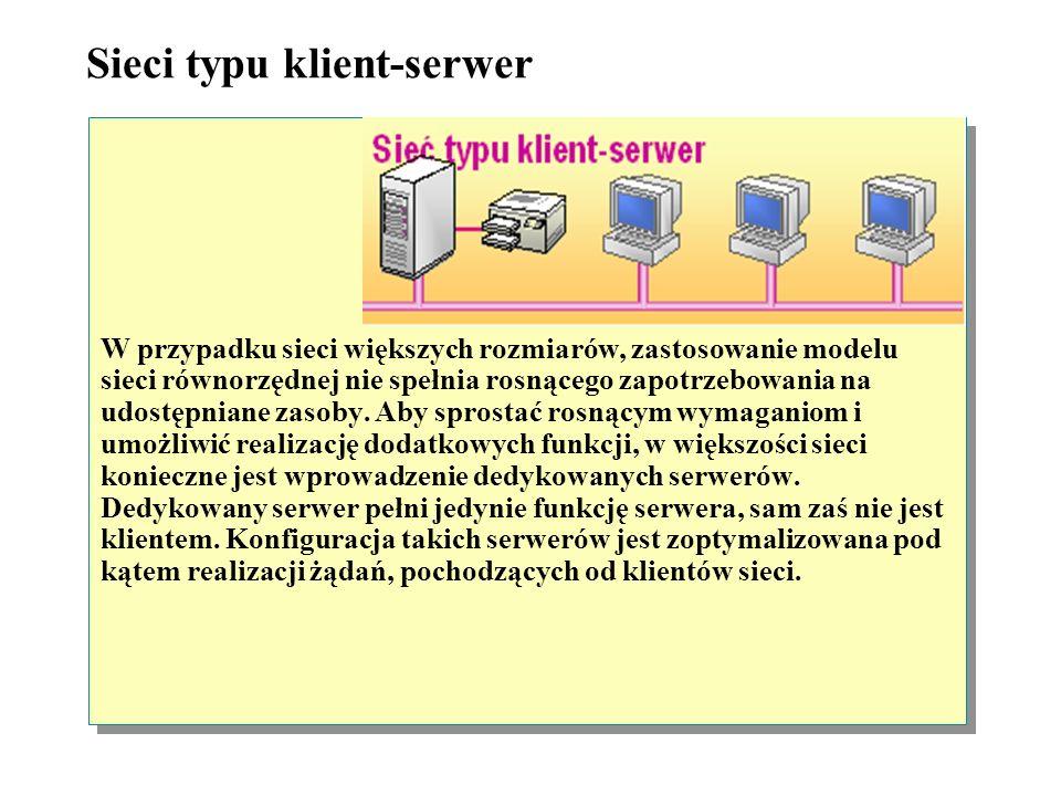 Sieci typu klient-serwer