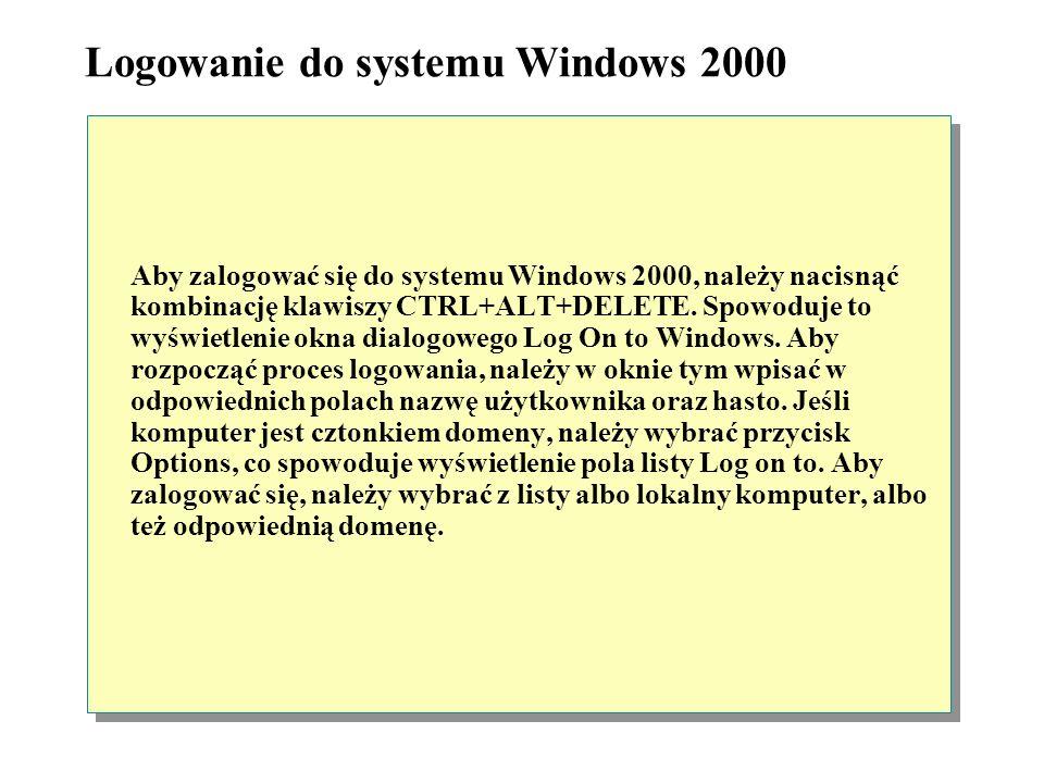 Logowanie do systemu Windows 2000