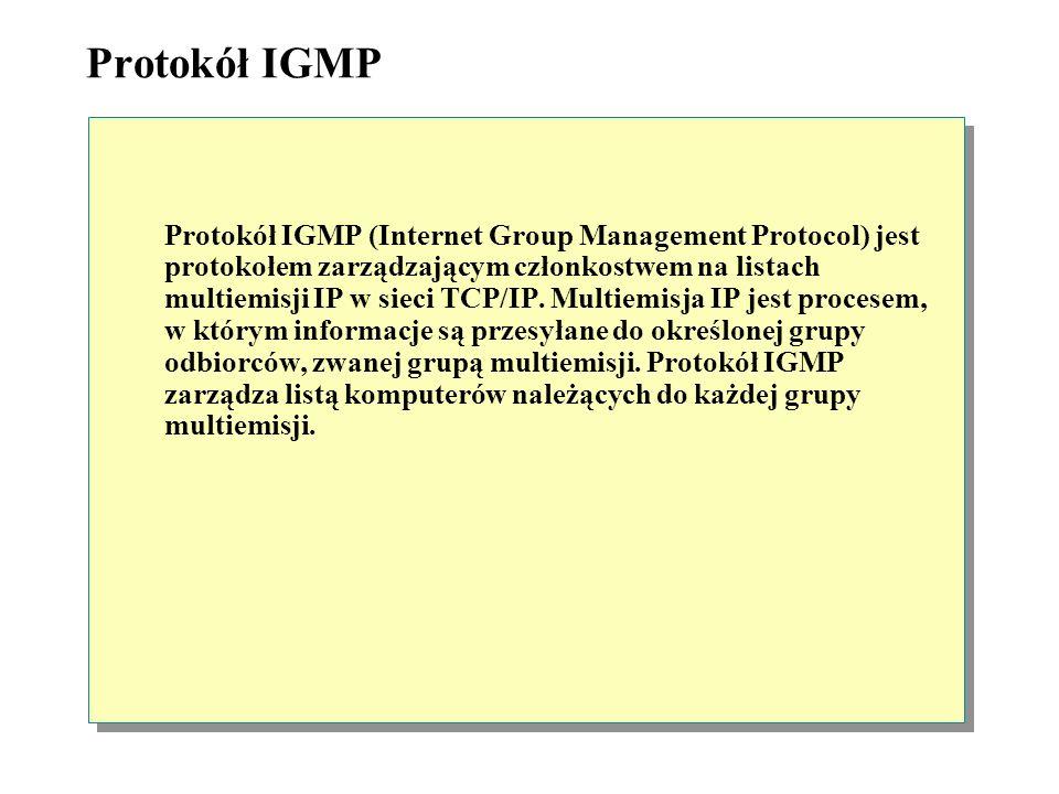 Protokół IGMP