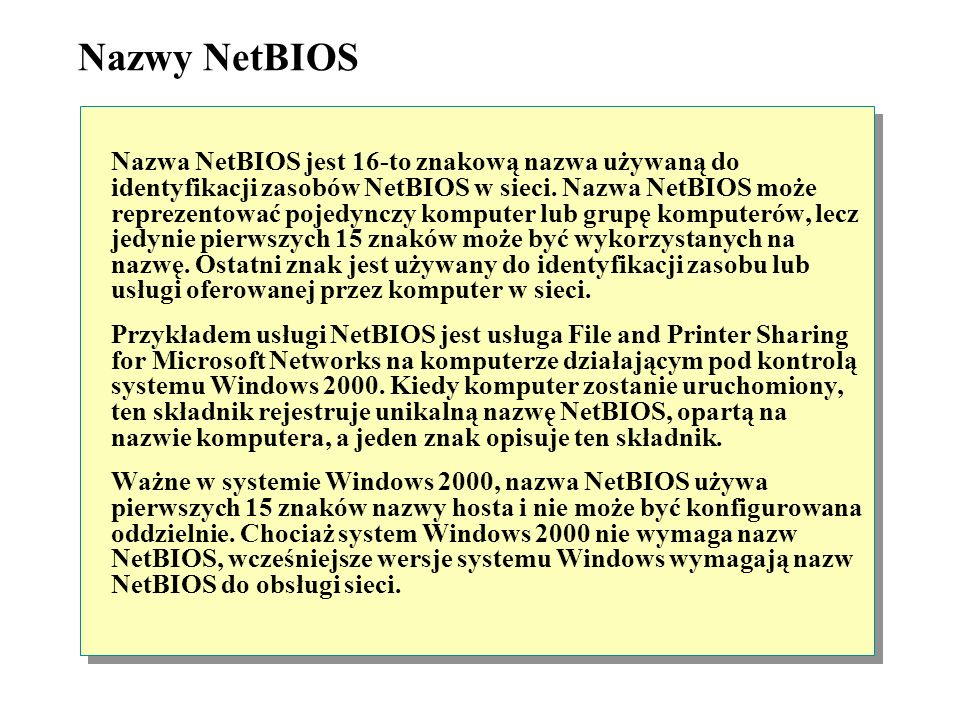Nazwy NetBIOS