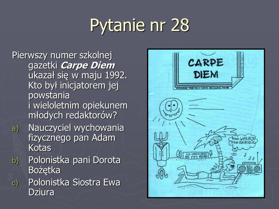 Pytanie nr 28
