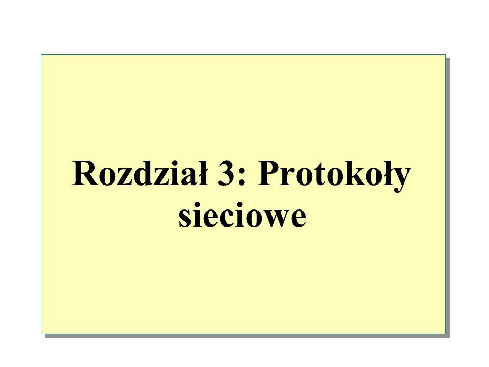 Rozdział 3: Protokoły sieciowe