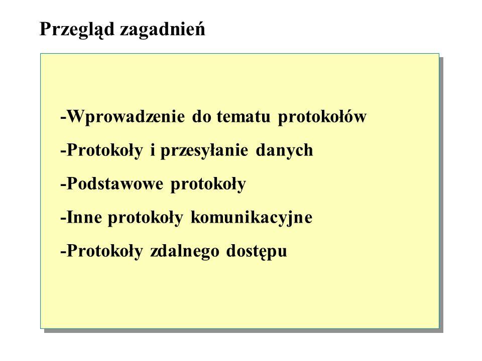 Przegląd zagadnień -Wprowadzenie do tematu protokołów