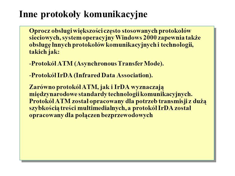 Inne protokoły komunikacyjne