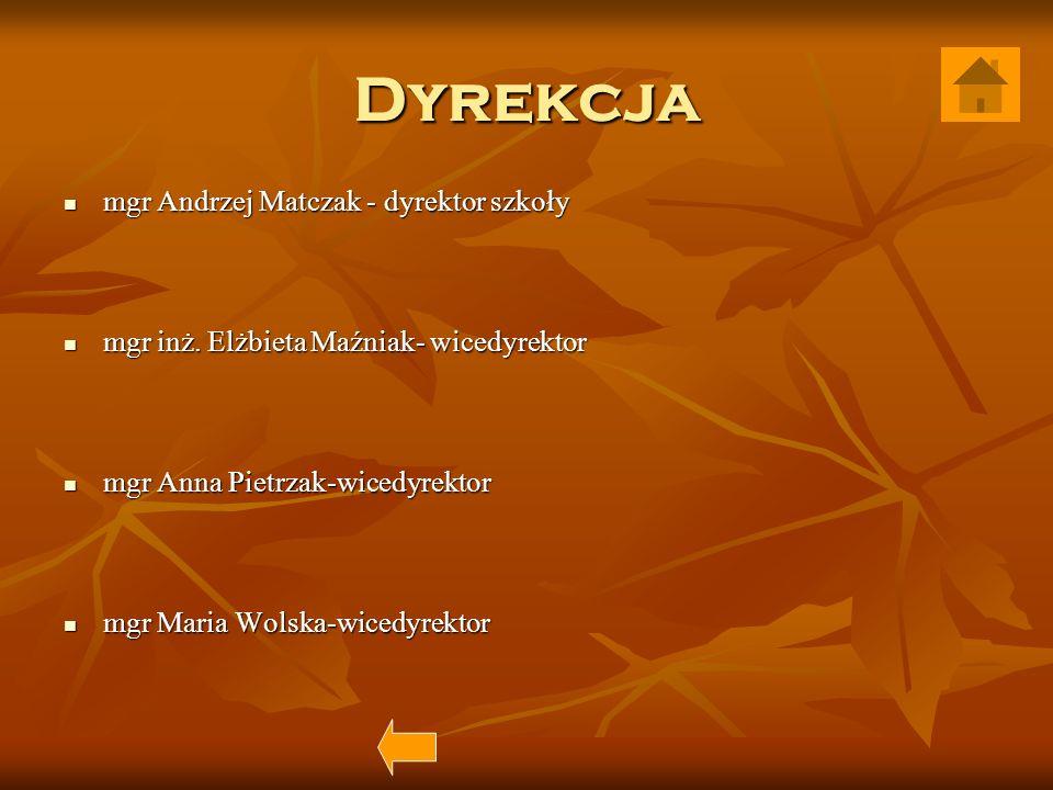 Dyrekcja mgr Andrzej Matczak - dyrektor szkoły