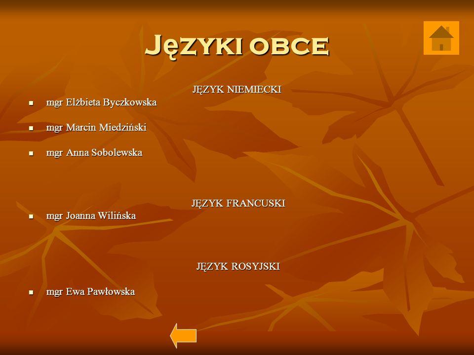 Języki obce JĘZYK NIEMIECKI mgr Elżbieta Byczkowska