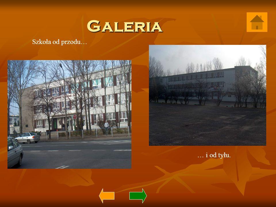 Galeria Szkoła od przodu… … i od tyłu.