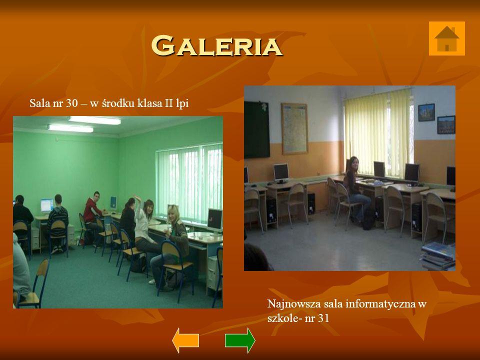 Galeria Sala nr 30 – w środku klasa II lpi