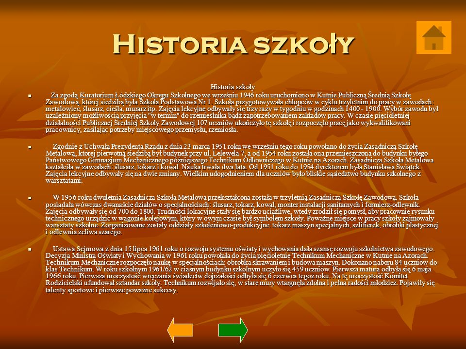 Historia szkoły Historia szkoły