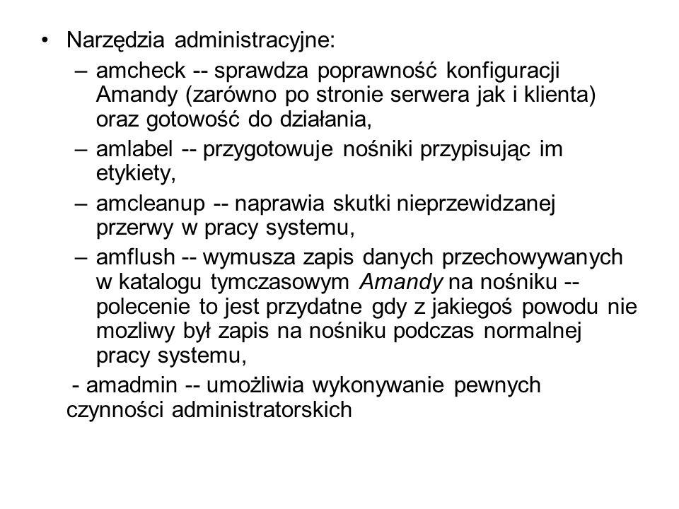 Narzędzia administracyjne: