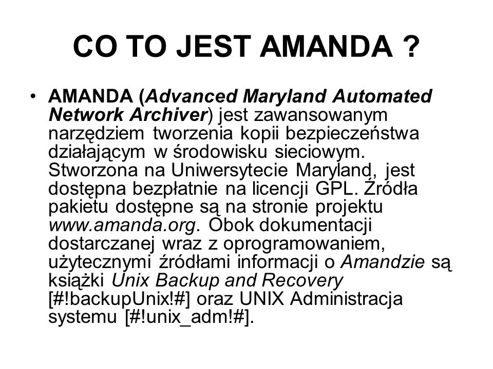 CO TO JEST AMANDA
