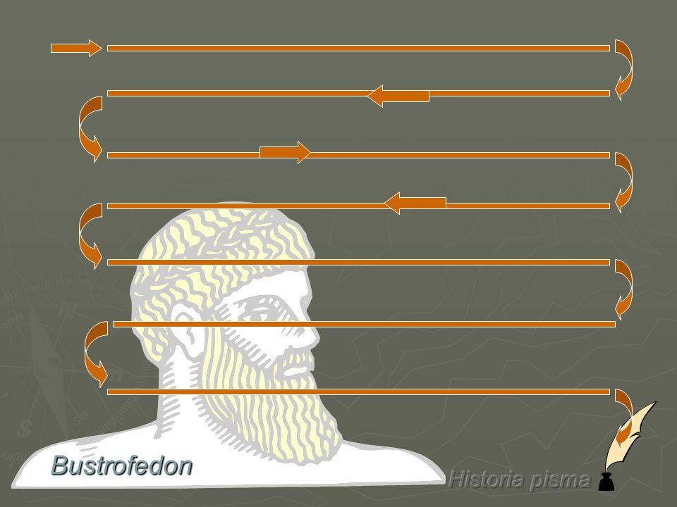 Bustrofedon Historia pisma