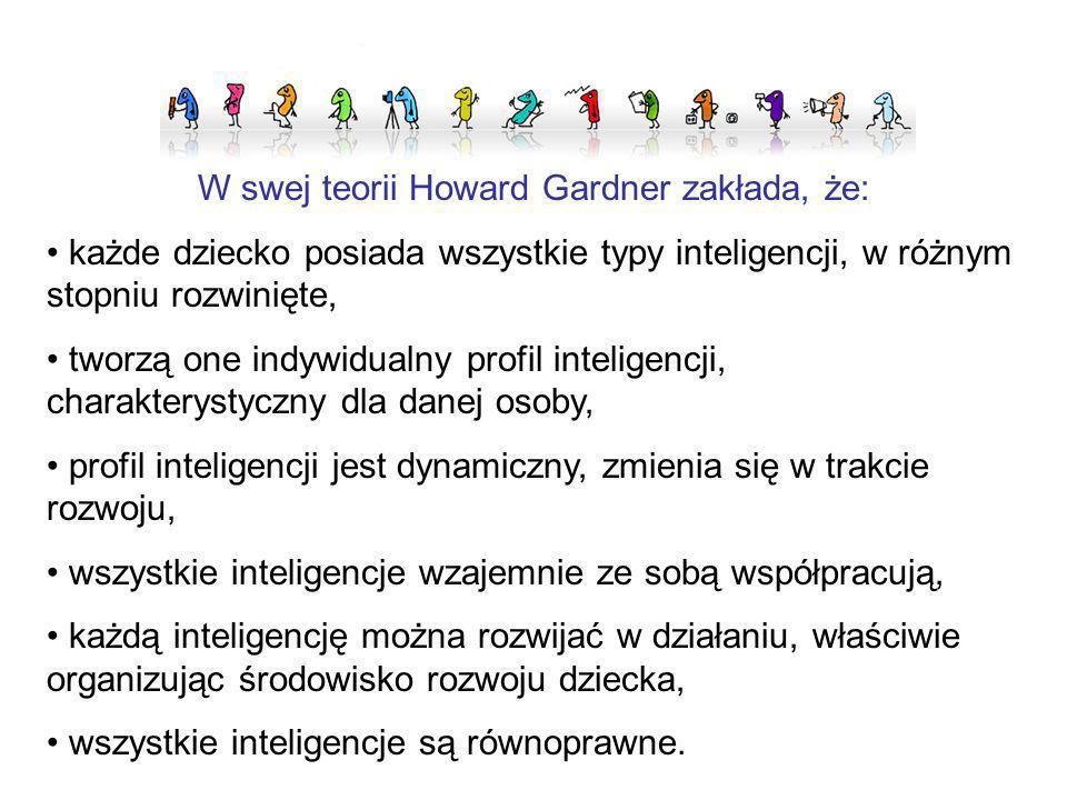 W swej teorii Howard Gardner zakłada, że: