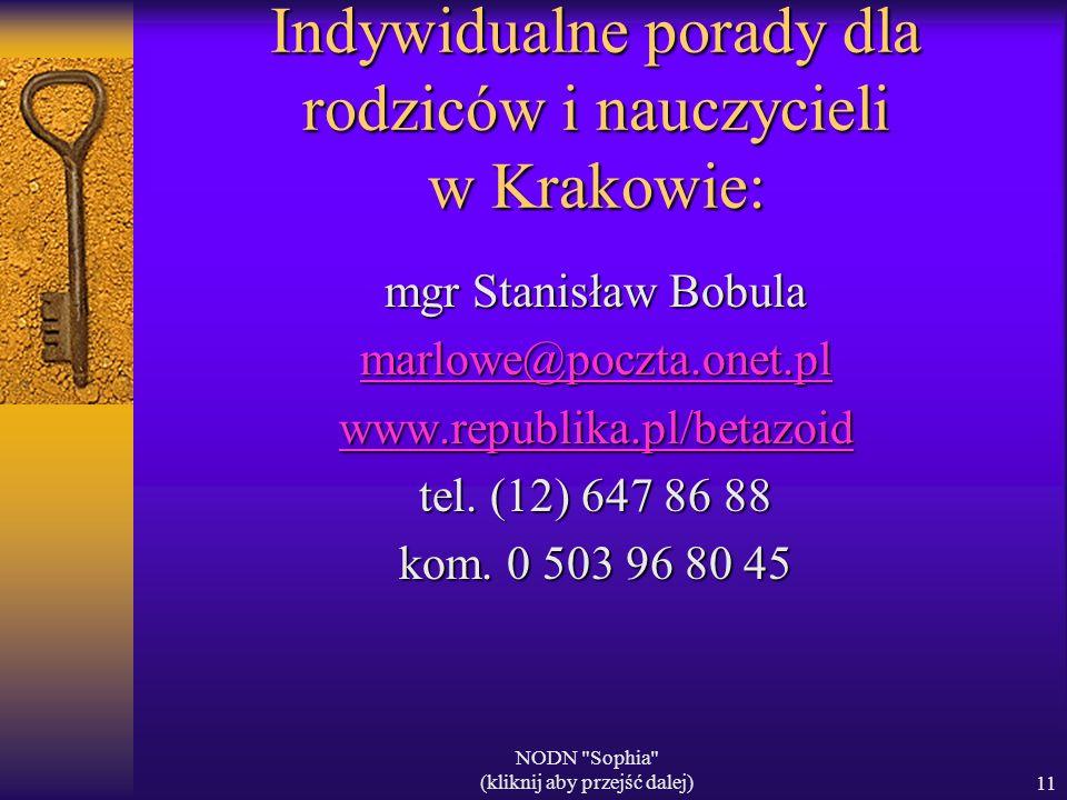 Indywidualne porady dla rodziców i nauczycieli w Krakowie: