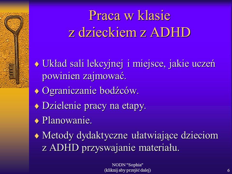Praca w klasie z dzieckiem z ADHD