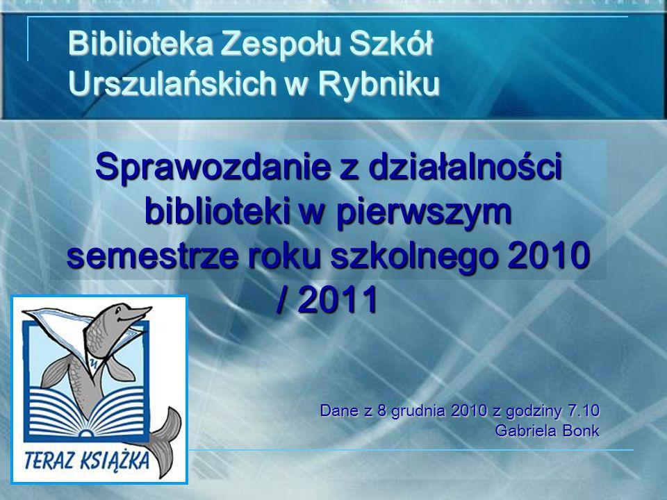 Biblioteka Zespołu Szkół Urszulańskich w Rybniku