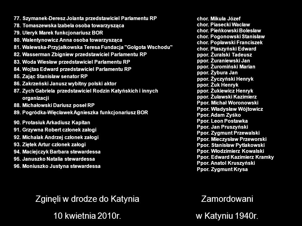Zginęli w drodze do Katynia
