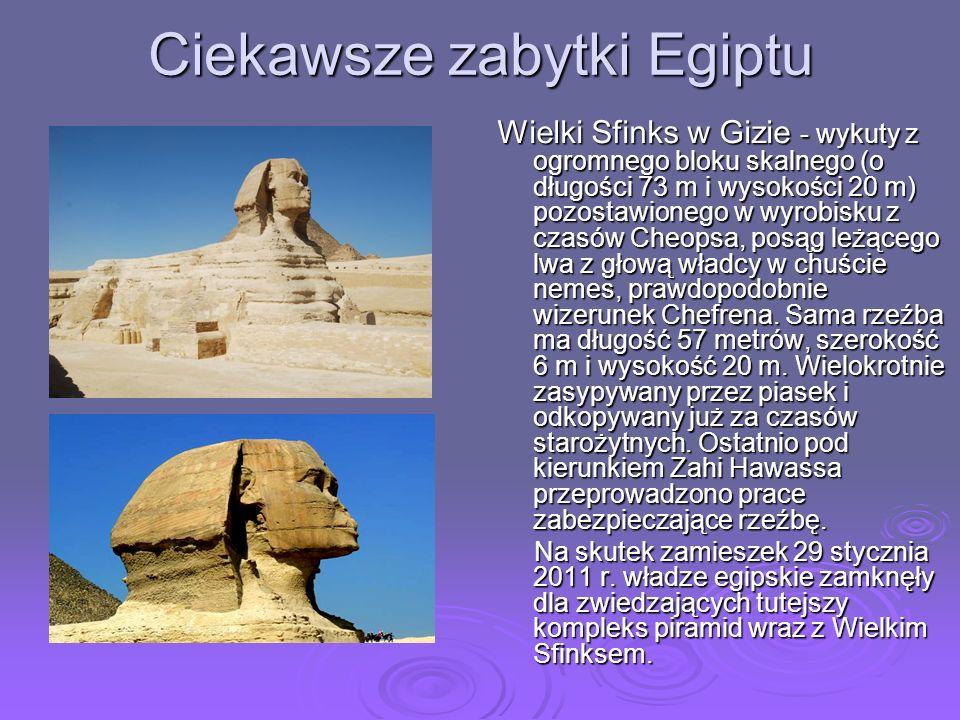 Ciekawsze zabytki Egiptu