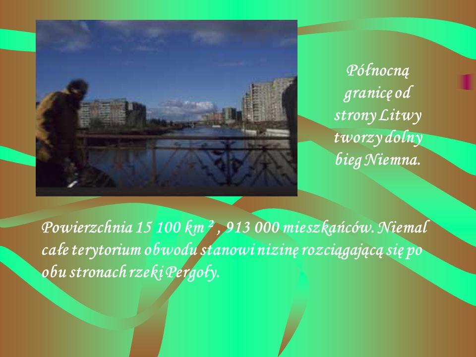 Północną granicę od strony Litwy tworzy dolny bieg Niemna.