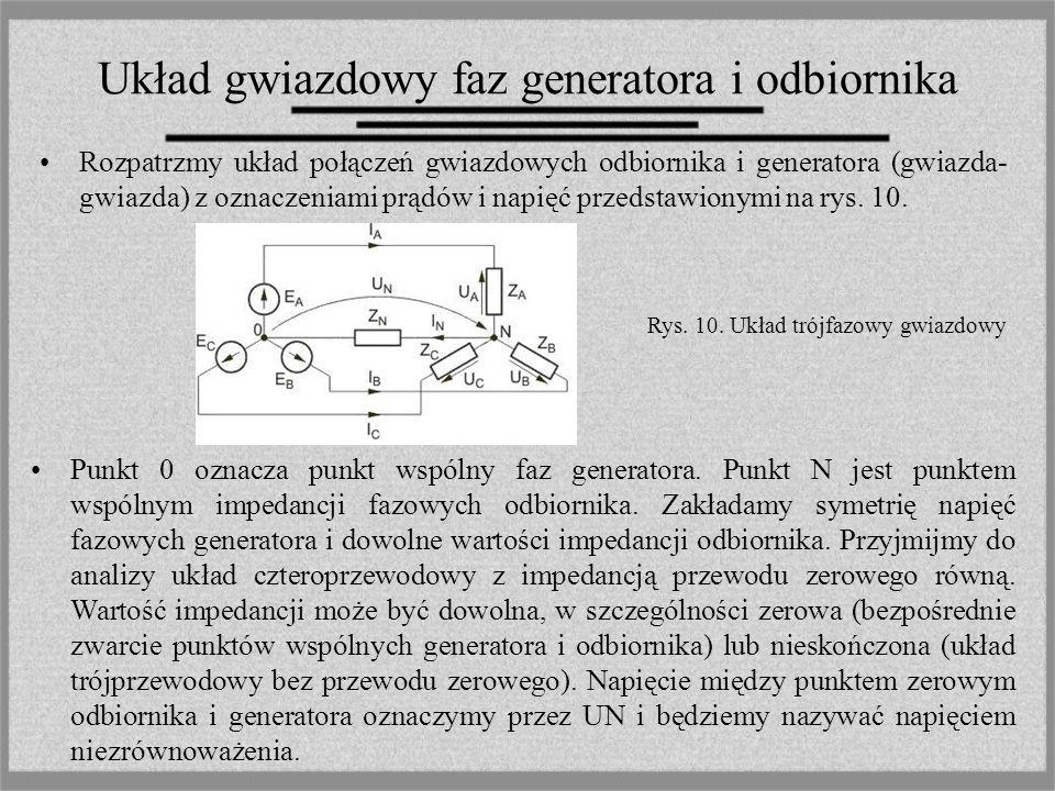 Układ gwiazdowy faz generatora i odbiornika