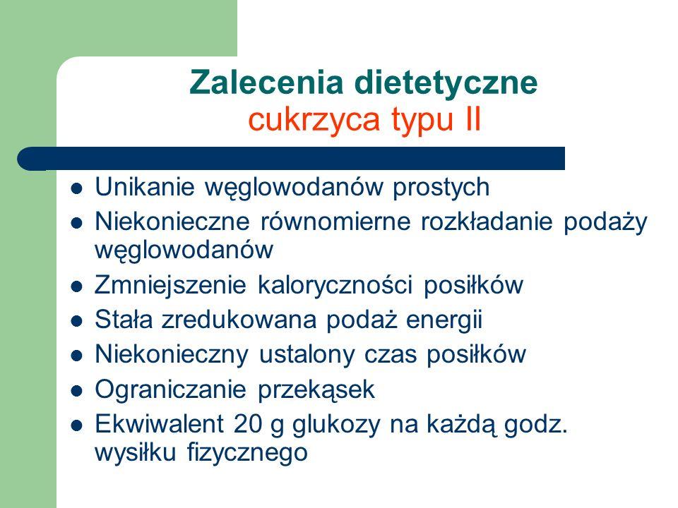 Zalecenia dietetyczne cukrzyca typu II
