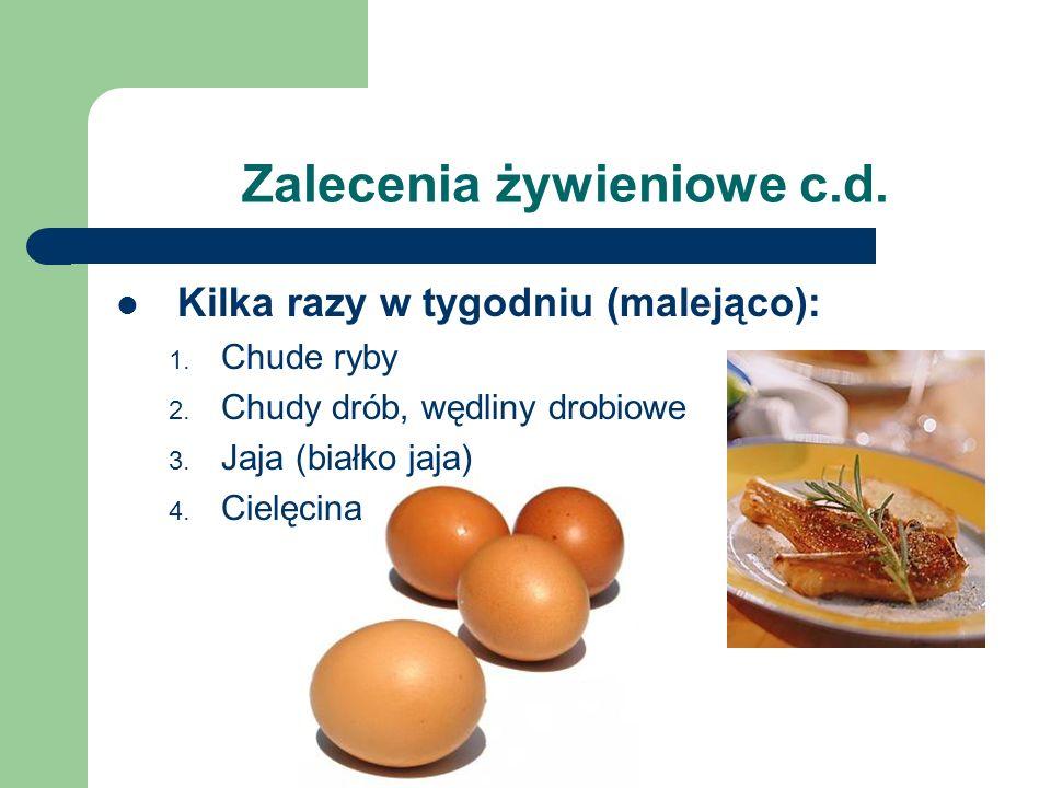 Zalecenia żywieniowe c.d.