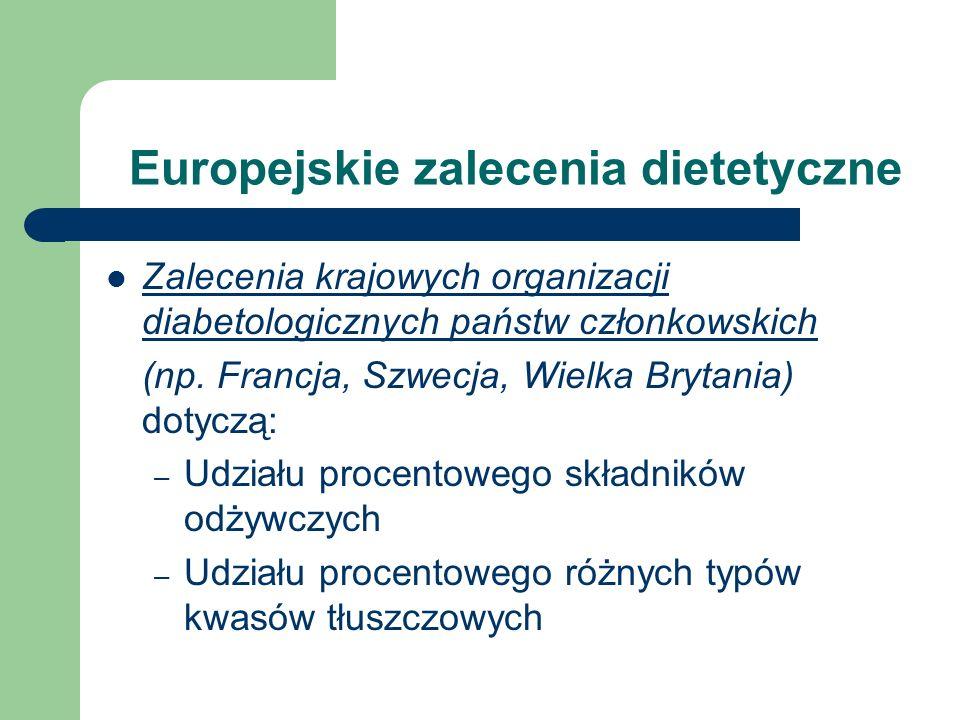 Europejskie zalecenia dietetyczne