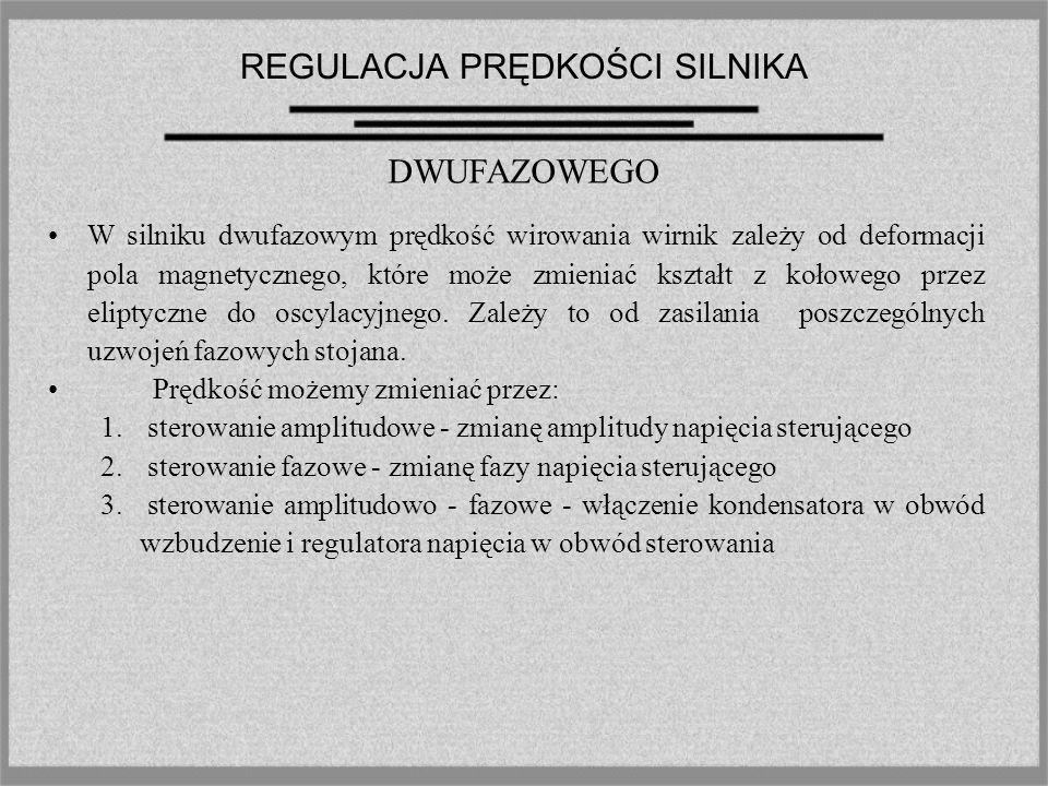 REGULACJA PRĘDKOŚCI SILNIKA