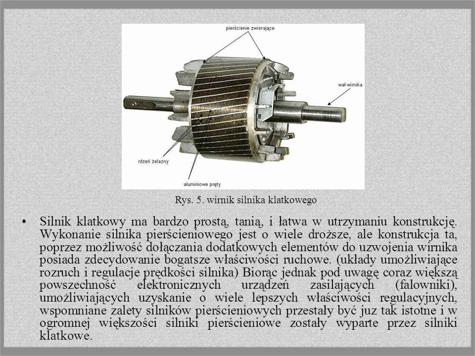 Rys. 5. wirnik silnika klatkowego