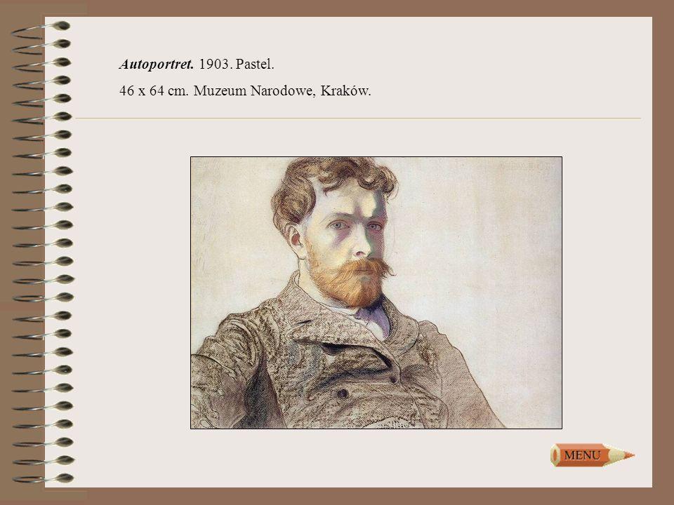 Autoportret. 1903. Pastel. 46 x 64 cm. Muzeum Narodowe, Kraków.