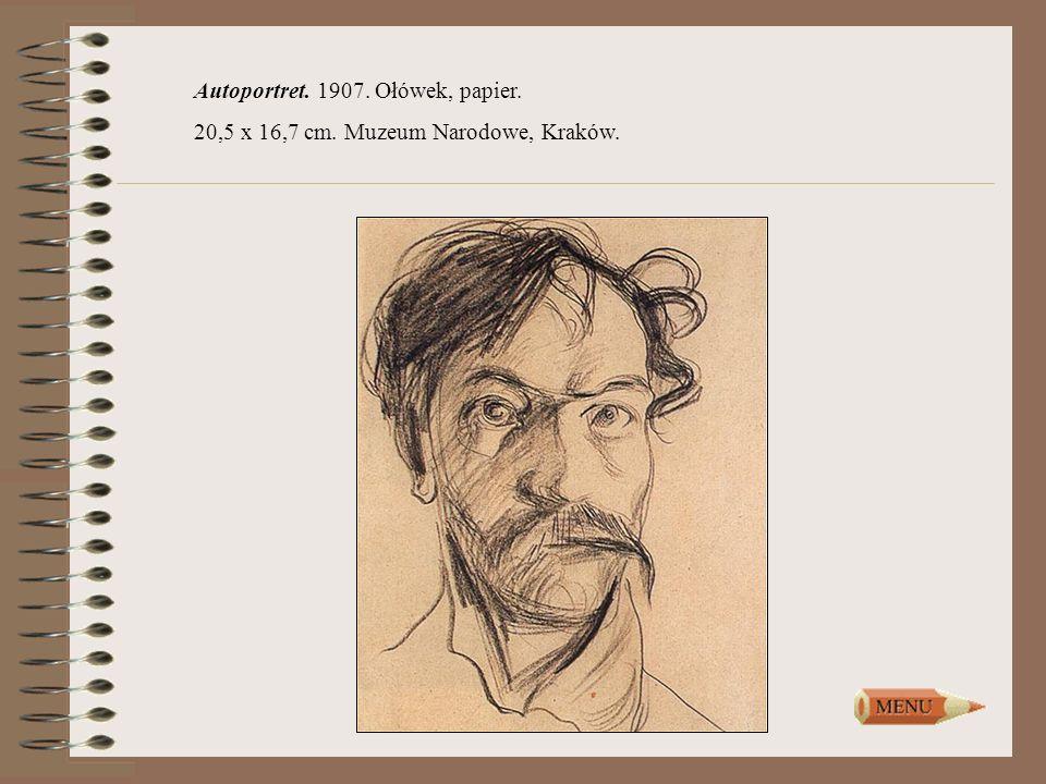 Autoportret. 1907. Ołówek, papier.