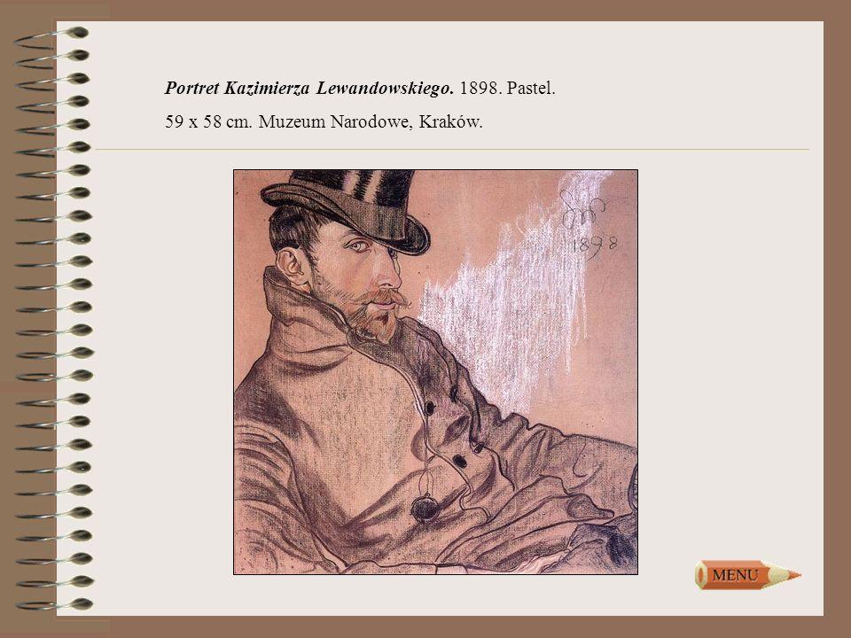 Portret Kazimierza Lewandowskiego. 1898. Pastel.