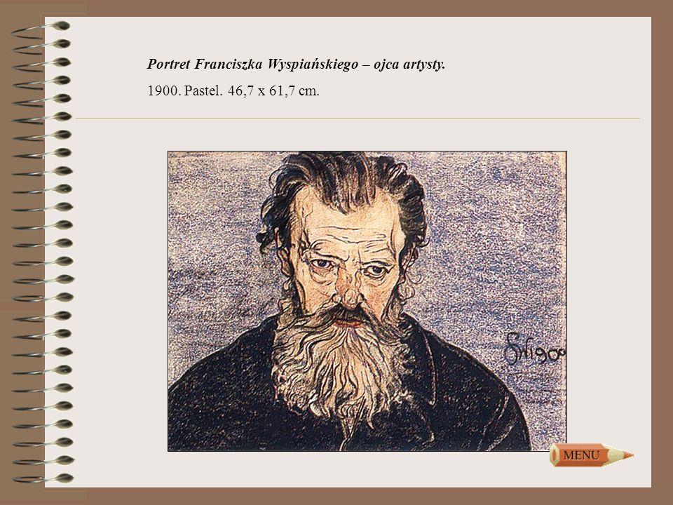 Portret Franciszka Wyspiańskiego – ojca artysty.