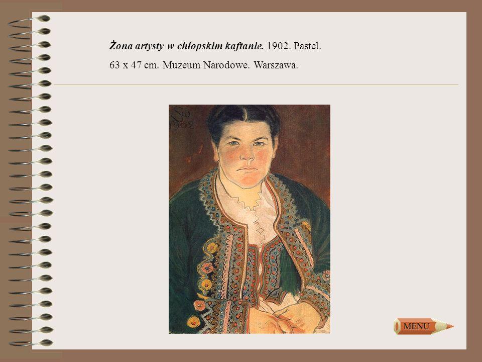 Żona artysty w chłopskim kaftanie. 1902. Pastel.