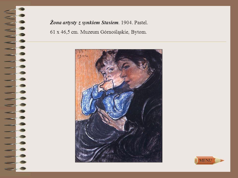 Żona artysty z synkiem Stasiem. 1904. Pastel.