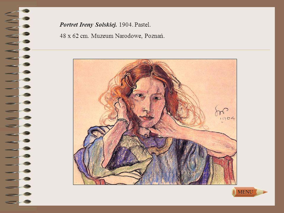 Portret Ireny Solskiej. 1904. Pastel.