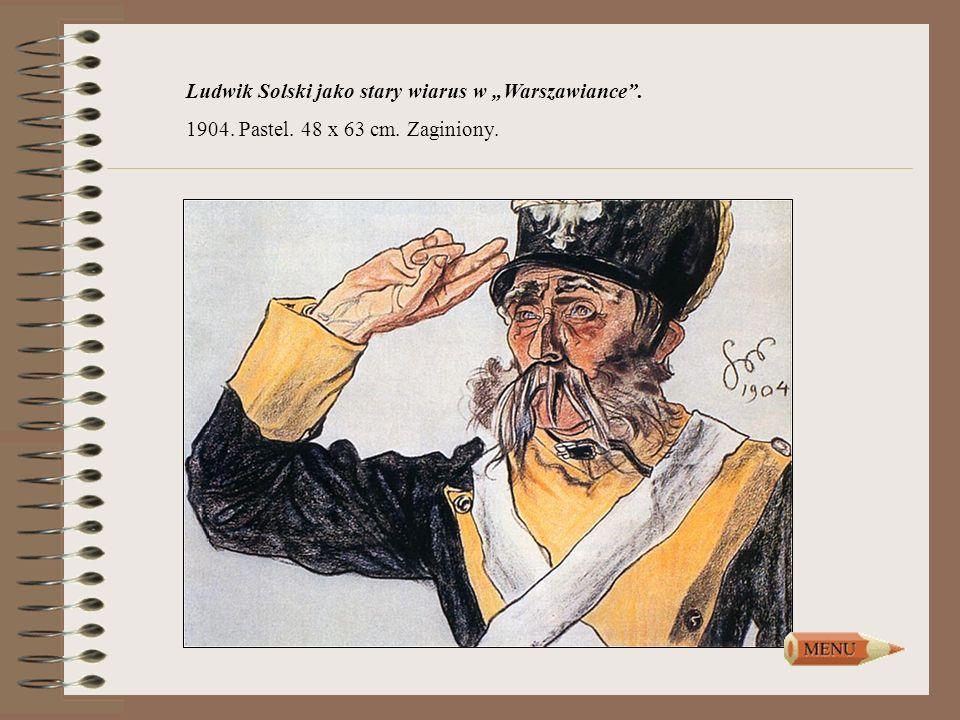 """Ludwik Solski jako stary wiarus w """"Warszawiance ."""