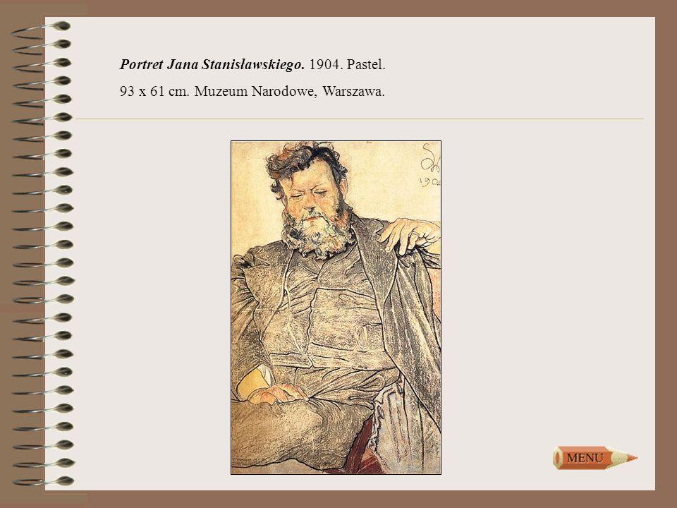 Portret Jana Stanisławskiego. 1904. Pastel.