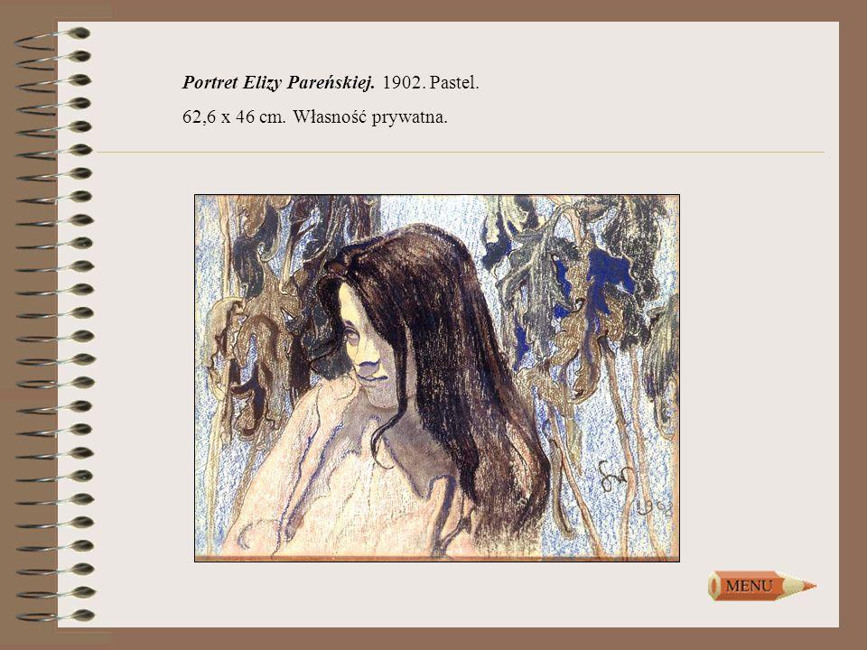 Portret Elizy Pareńskiej. 1902. Pastel.