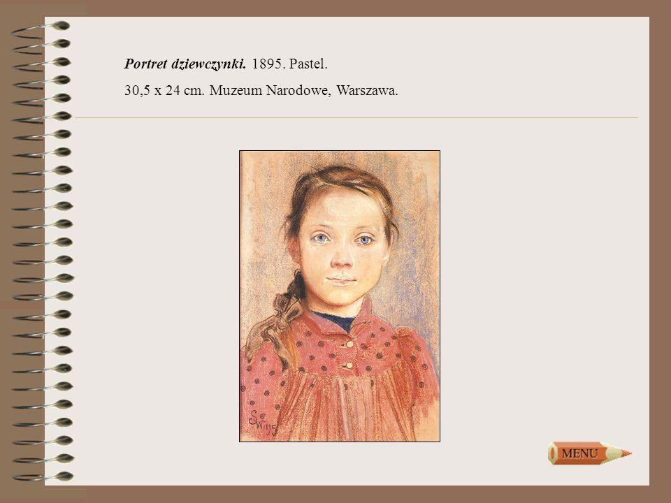 Portret dziewczynki. 1895. Pastel.